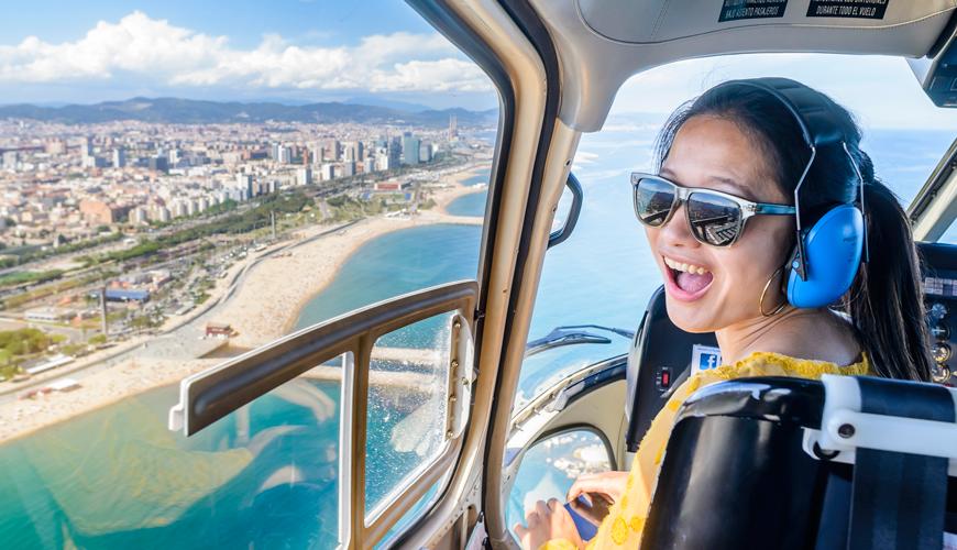 360º barcelona skytalk tours, barcelona helicopter flight, barcelona boat cruise, barcelona boat tours, boat trip barcelona